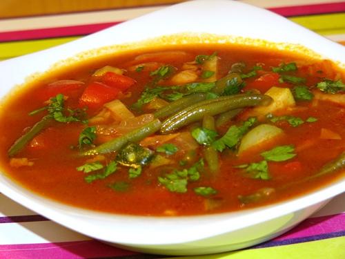 Вкусный суп с фасолью рецепт