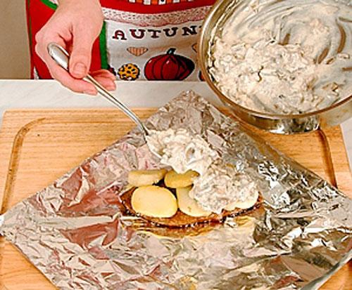 говядины с картошкой в фольге рецепт с фото