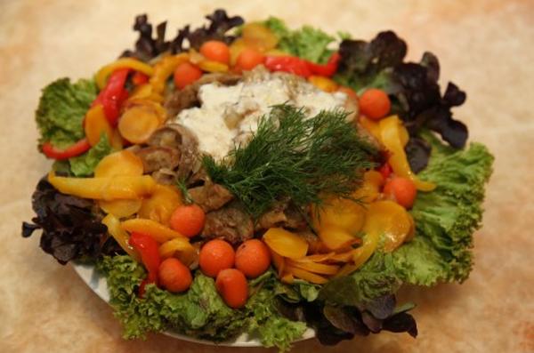 Картошка тушенная с бараниной