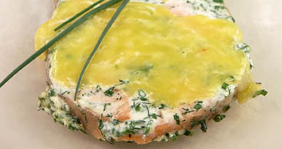 Запеченое суфле из лосося