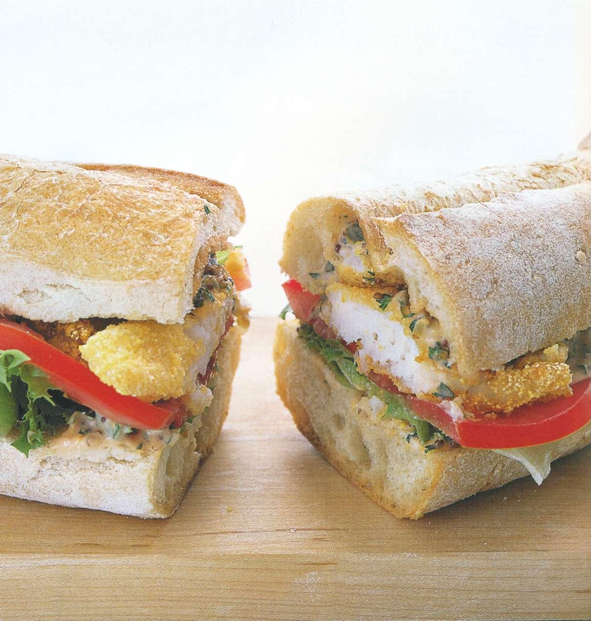 Рецепт: луизианский сэндвич с рыбой