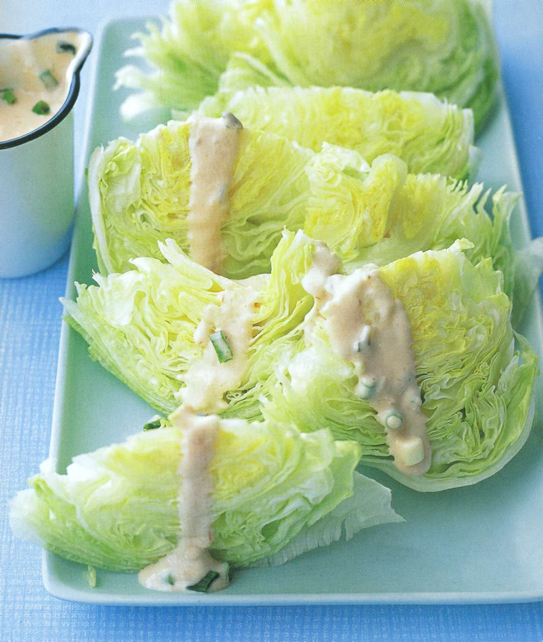 Рецепт: салат айсберг с заправкой тысяча островов