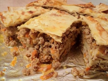 Сытный ужин: как приготовить пирог с мясом
