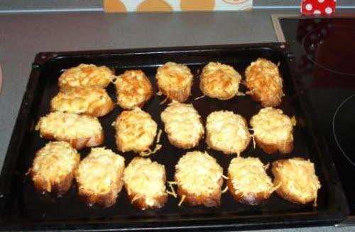 Тартинки с горчичным кремом под желатином