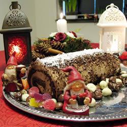 Французский рождественский торт «полено»