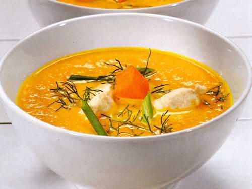 Суп из курицы и тыквы