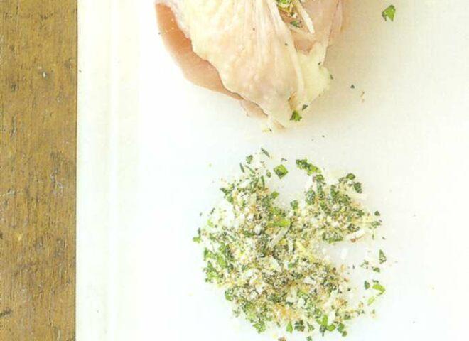 Рецепт: куриные грудки, фаршированные пармезаном