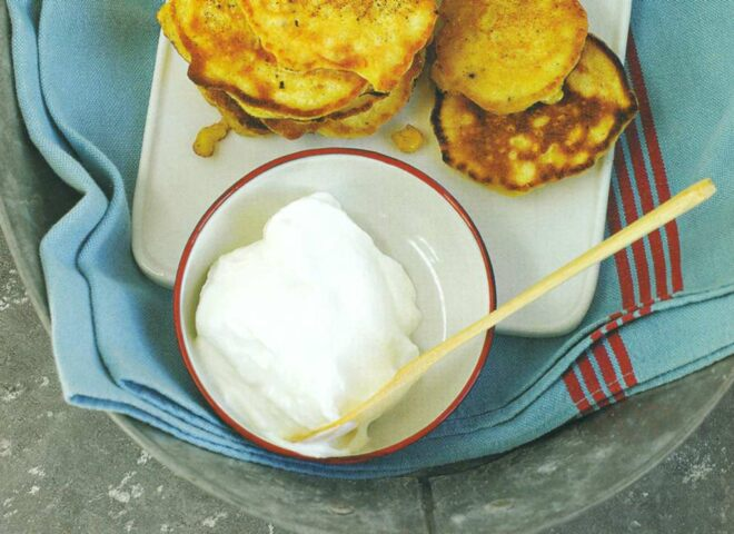 Рецепт: кукурузные оладьи