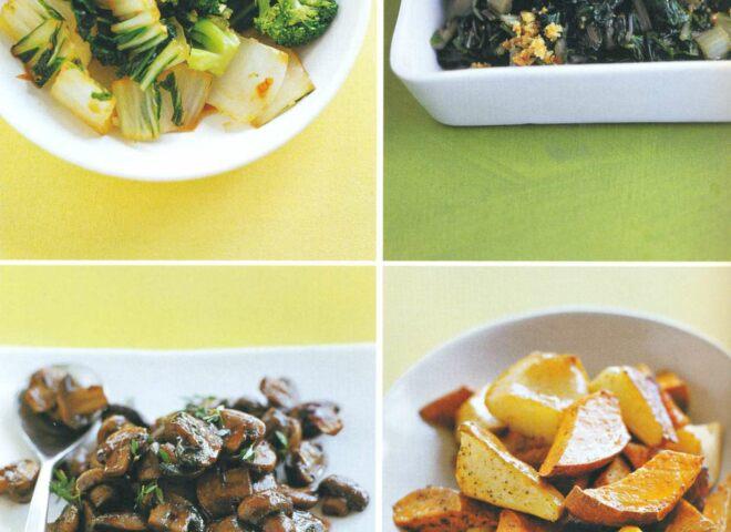 Рецепт: тушеные брокколи и капуста пак-чой