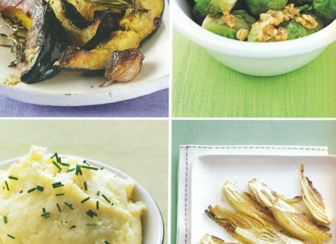 Рецепт: запеченная в духовке тыква с шалотом и розмарином