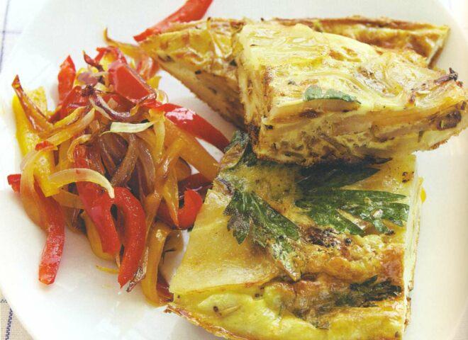Рецепт: фритата с картофелем и луком