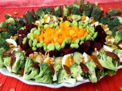 Салат с брокколи и фасолью