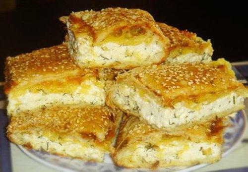 Слоеный пирог с сыром — рецепт
