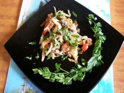 Рецепты:Овощная запеканка с грибочками