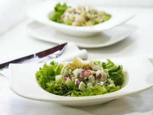 Рецепт салата с курицей и картофелем