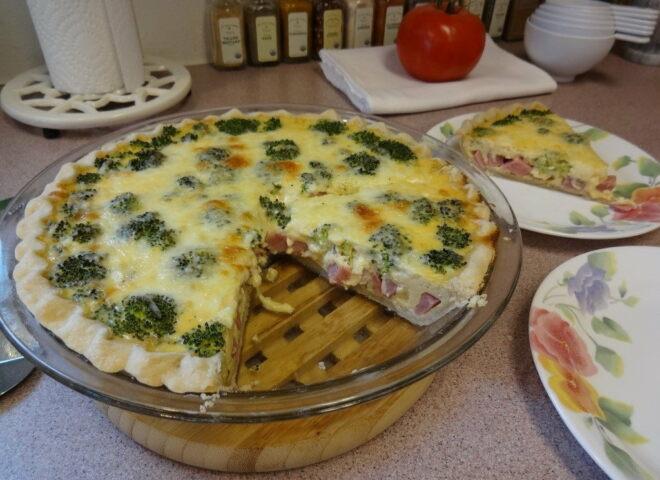 Пирог с брокколи