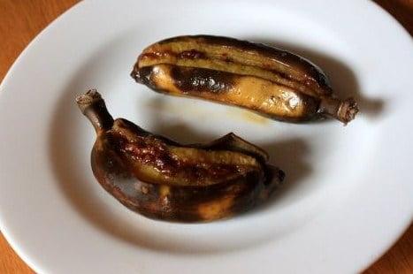 Лодочки из бананов