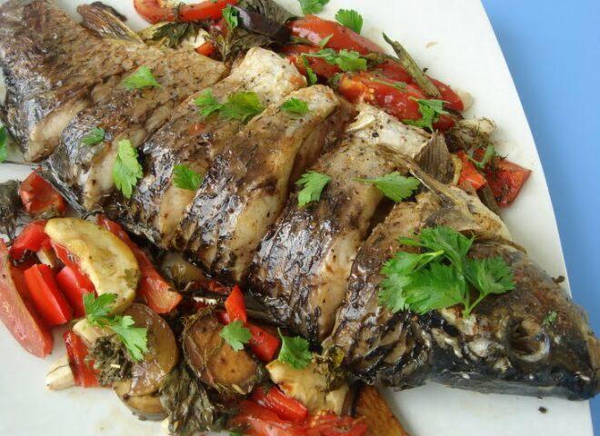 Экзотические блюда из рыбы Экзотическая рыба с овощами