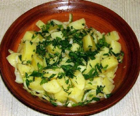 Рецепт экзотического блюда картофельный салат с кокосом