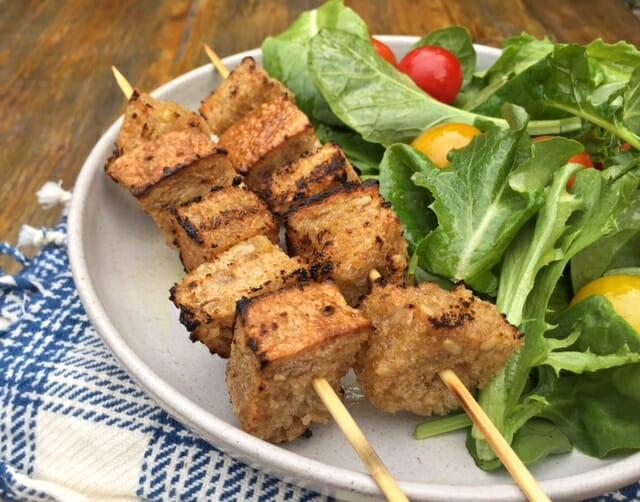 Гренки на гриле (для салатов)
