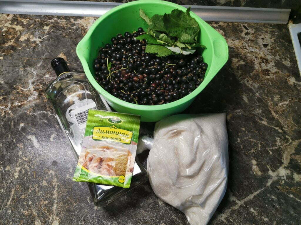 Быстрая наливка из чёрной смородины