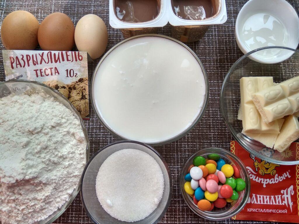 Простой домашний торт Бабушкина радуга