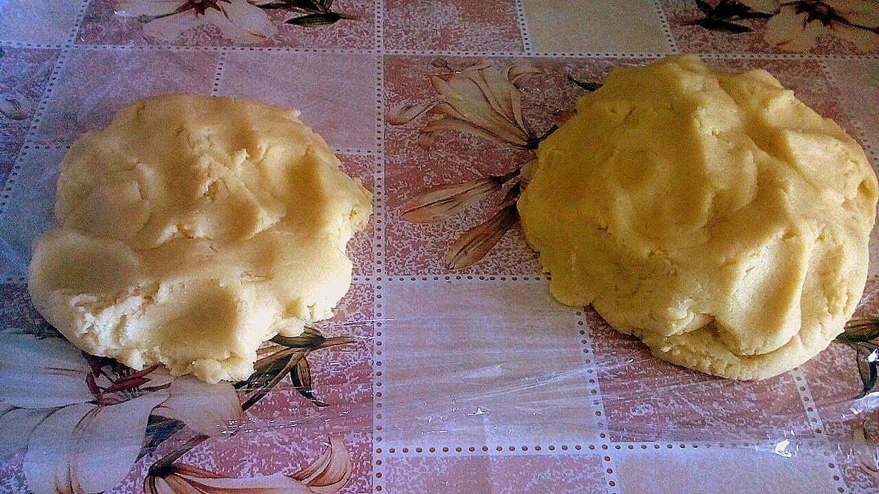 Песочный пирог с творожно маковой начинкой
